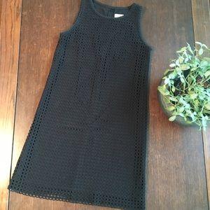 Loft Black sleeveless shift dress